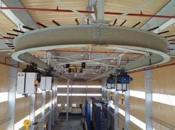 monorail with hoist for galvanizing-plant